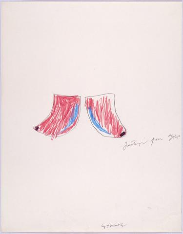 Untitled (Greetings from Gorgo), 1966