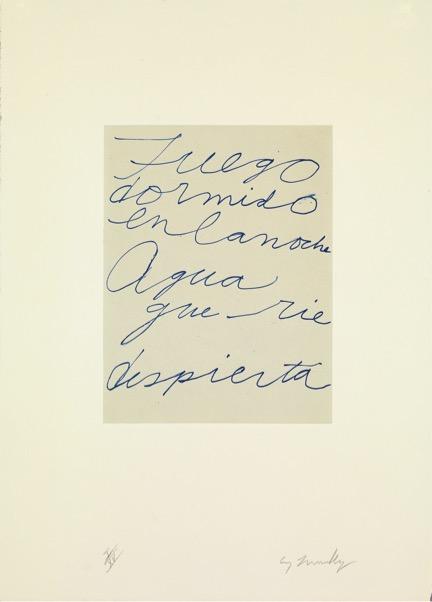 Octavio Paz - Cy Twombly, 1993